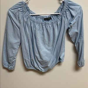 Blue brandy Melville dress shirt